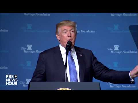 WATCH: President Trump speaks about tax policy at Heritage Foundation