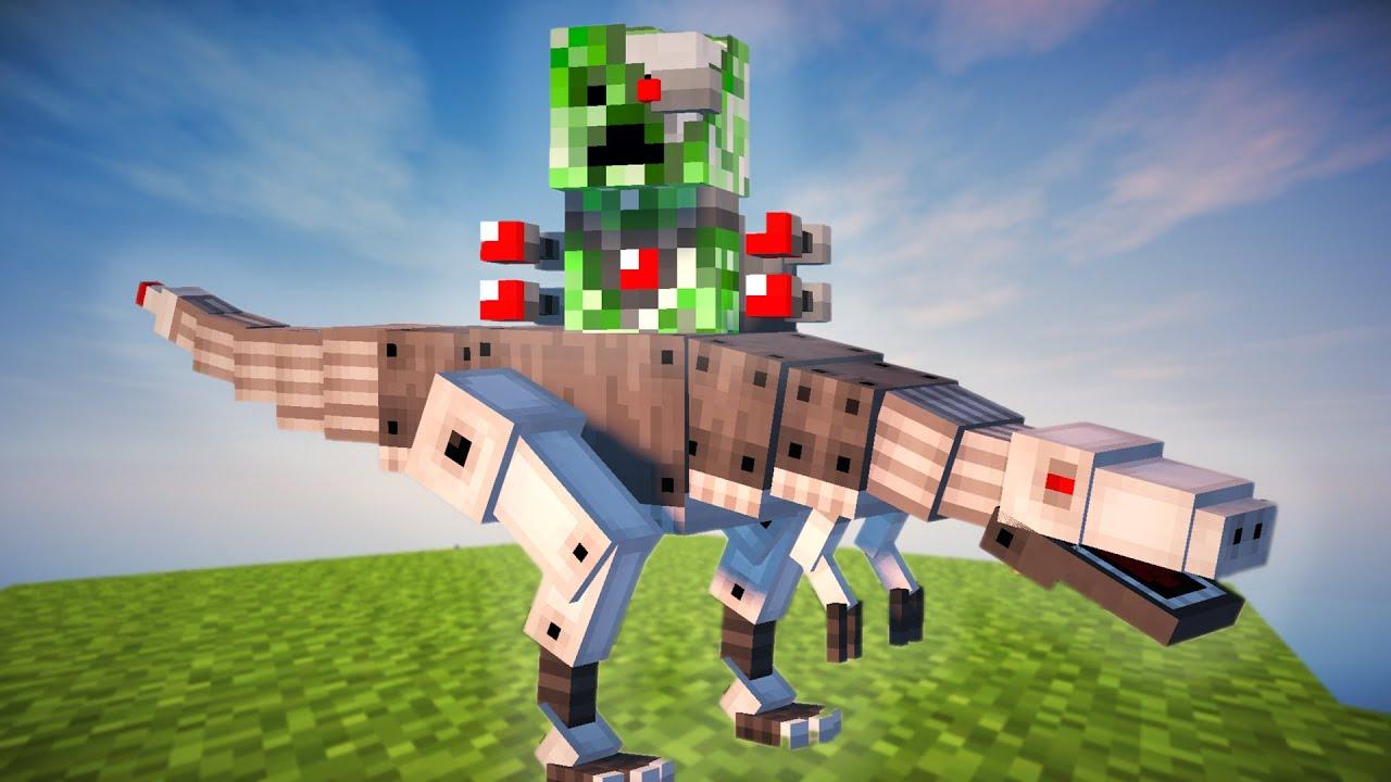 Default Iphone 7 Wallpaper Minecraft Creeper T Rex Mod Youtube