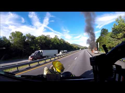 BVFD - Engine 3 Vehicle Fire Response 09-11-16 (GoPro/Ride Along)