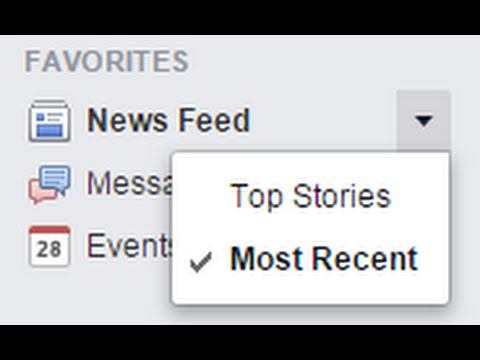 """How to Make Your Facebook News Feed Default to """"Most Recent"""""""
