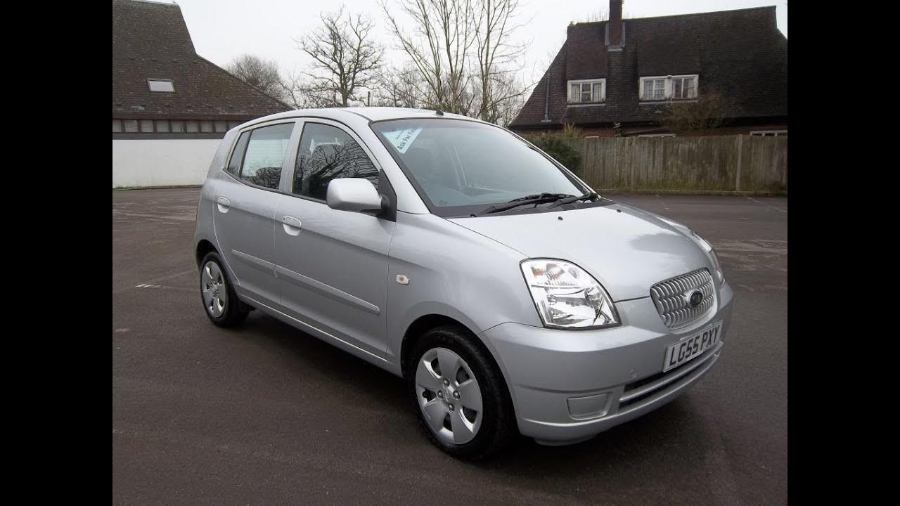 kia picanto 1 1 lx 5 door in silver 1 owner from new 21 000 miles 55 reg target cars youtube. Black Bedroom Furniture Sets. Home Design Ideas