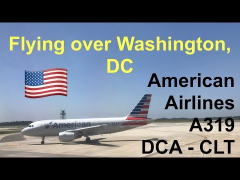 American Airlines A319 Economy Class from Washington, DC to Charlotte, NC