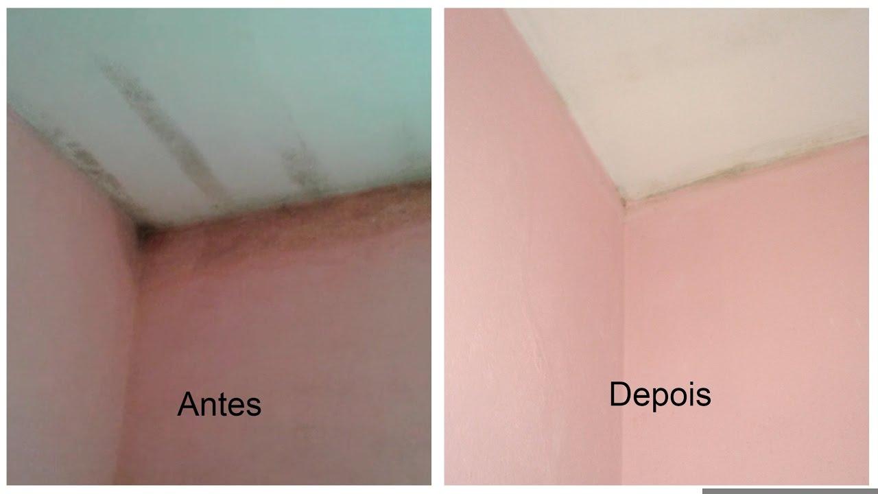 como limpar mofo de parede