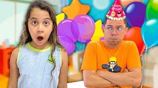 Sarah e o aniversário do papai   Sarah and Dad's Birthday
