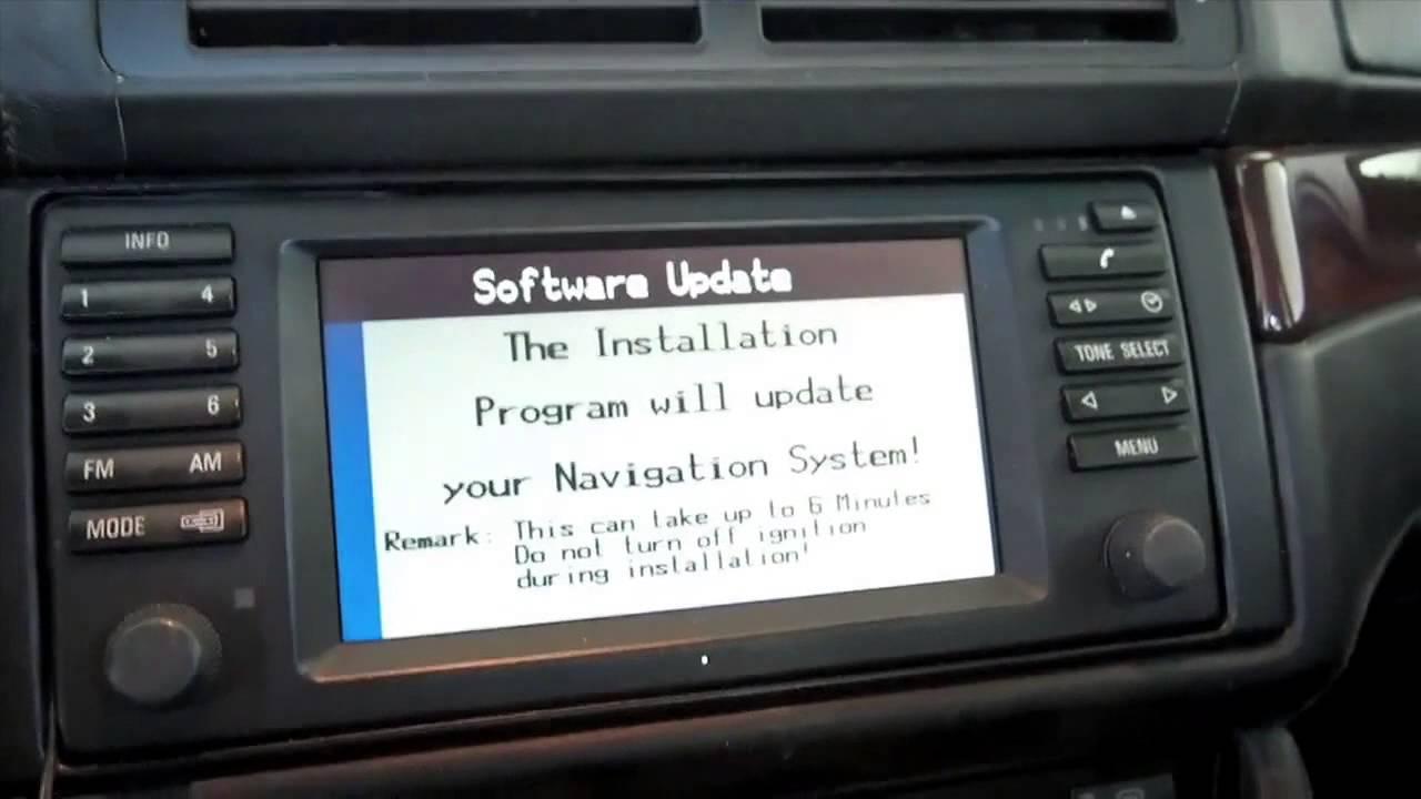Bmw Navigation Mkiii Software Update Key Cd Youtube