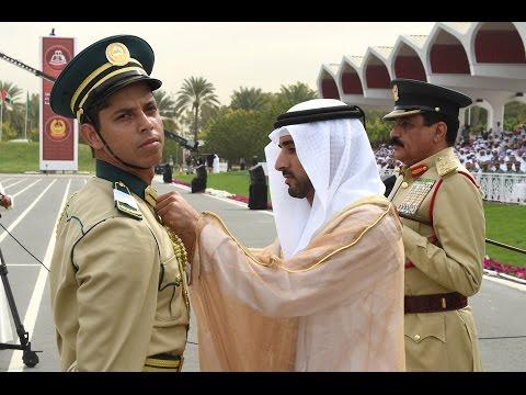 حمدان بن محمد يشهد حفل تخريج الدفعة الـ 23 من المرشحين الضباط في أكاديمية شرطة دبي