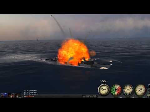Sinking An Large Carrier Group With Icebergs and Destroyers On Silent hunter III