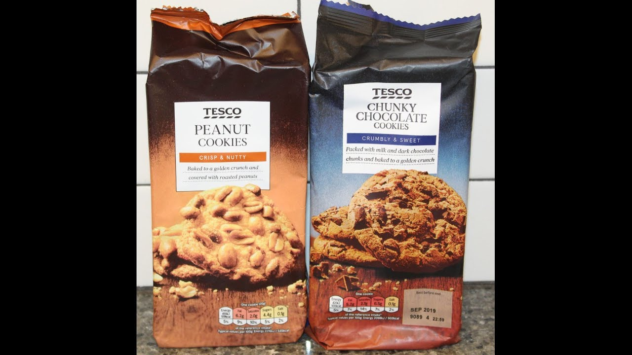 Tesco Peanut Cookies Chunky Chocolate Cookies Review