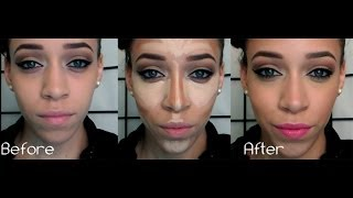 HOW TO: Cream Contour & Highlight Using Drugstore Products | JustJasmine24 Thumbnail