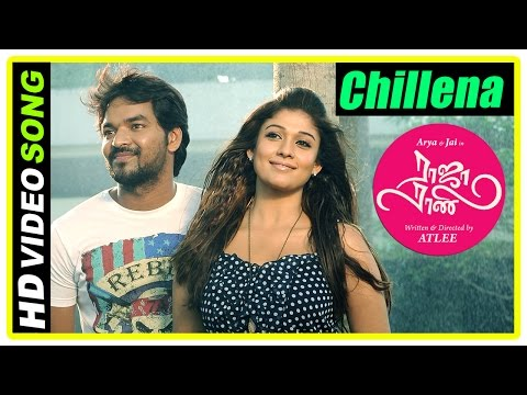Raja Rani Tamil Movie Songs  Chillena Song  Jai and Nayanthara exchange ring  Sathyan