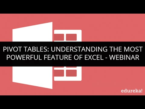 Pivot Tables - Understanding the most powerful feature of Excel | Edureka