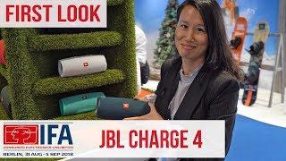 JBL Charge 4 Bluetooth Speaker First Look (English) #IFA2018