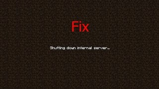 How to Fix Minecraft Forge [Shutting down internal server] [Easy]
