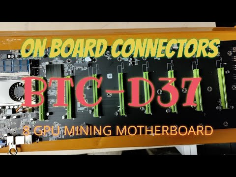 BTC -D37  / BTC - 37 Overview Of Connectors On Motherboard