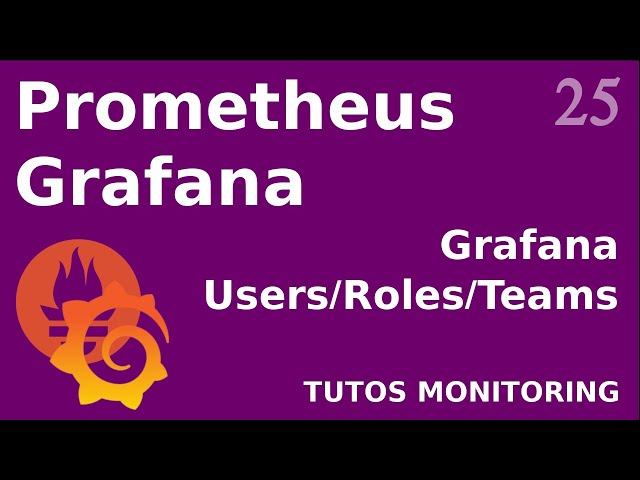 GRAFANA - 25. TEAMS ET USERS