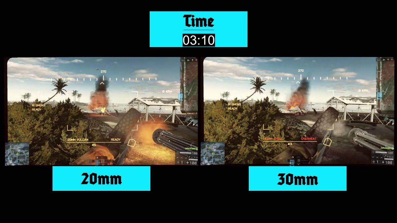 BF4 - 20mm vs 30mm - YouTube