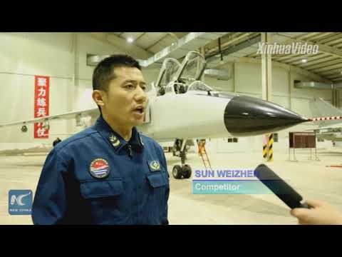 Chinese naval air force holds competition on maintenance skills