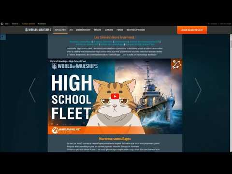WORLD OF WARSHIPS - Discutons de la Collection kawaï HIGH SCHOOL FLEET !
