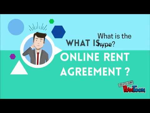 Online Rent Agreement Rent Agreement Online Youtube