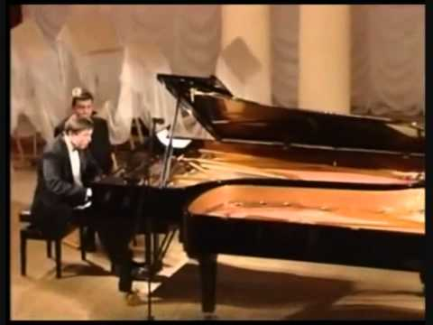 J. Brahms. Hungarian dances for two pianos .wmv