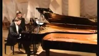 J. Brahms. Hungarian dances for two pianos .wmv