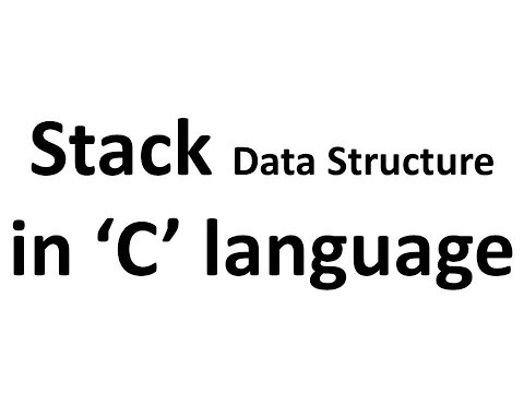 1.Stack (LIFO) Data Structure in C