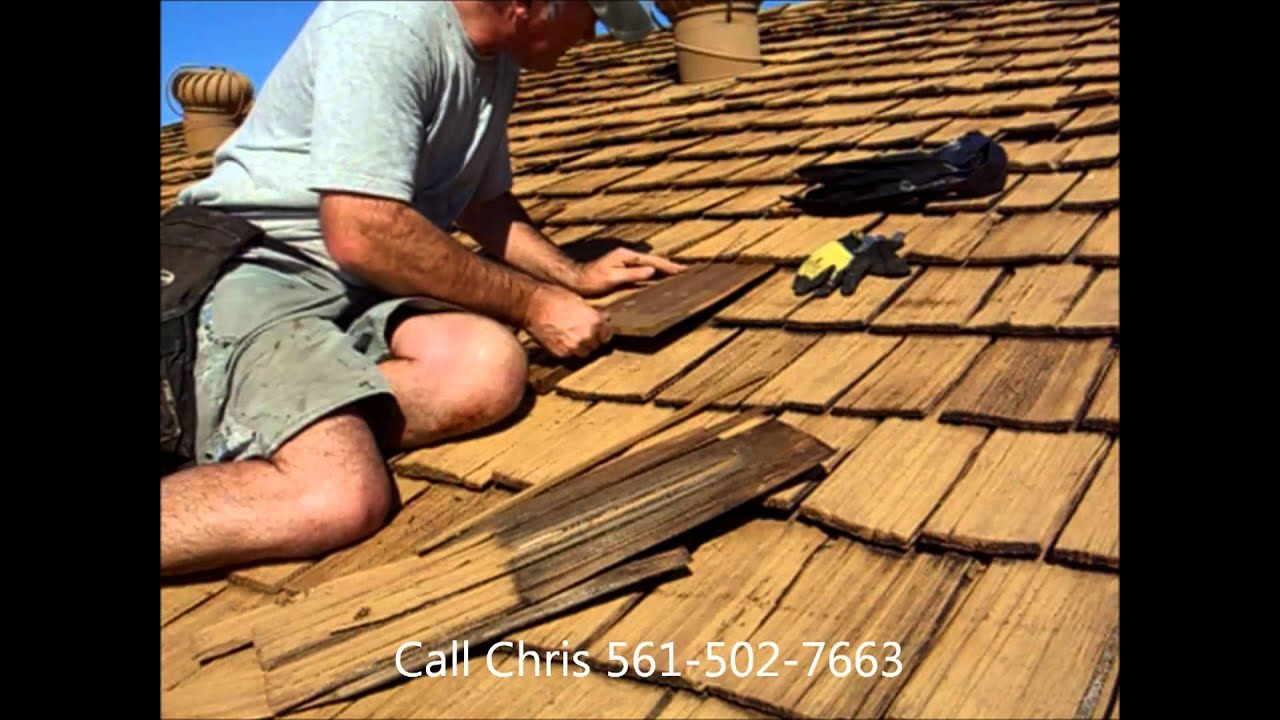 CEDAR SHAKE SHINGLE ROOF REPAIR RESTORATION WEST PALM BEACH   YouTube