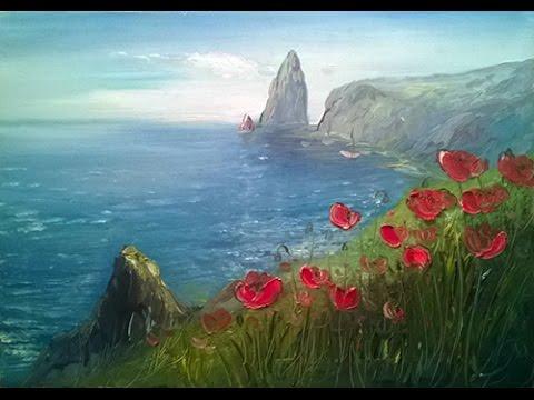 Вышивка лентами маки и полевые цветы (фото и видео)