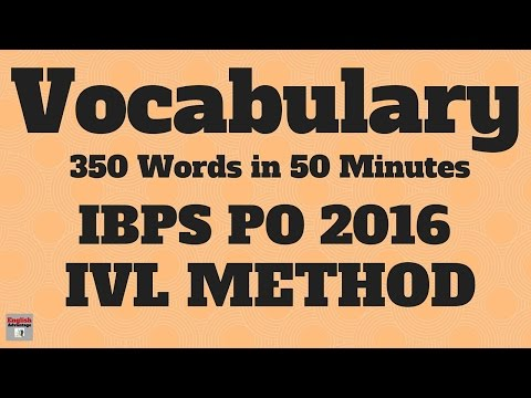 Best Tricks to Learn VOCABULARY for IBPS PO 2016 and SSC | 350 Words Fully Explained | in HINDI
