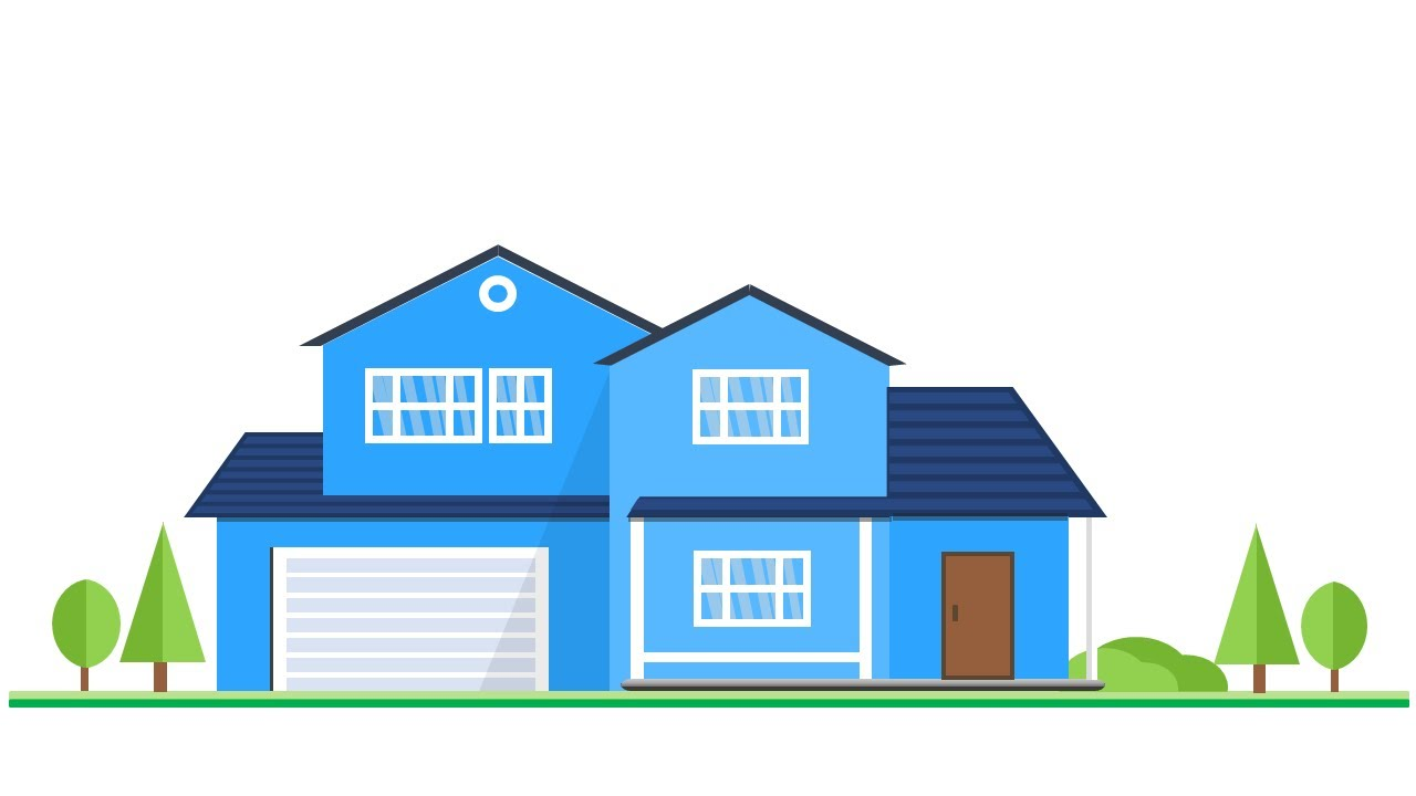 How to create a suburban house vector in microsoft office - How to design a home ...