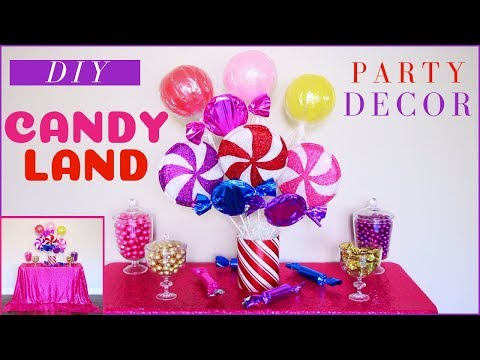 DIY Candyland Party Decorations - DIY Party Decor - DIY Christmas Party - 동영상