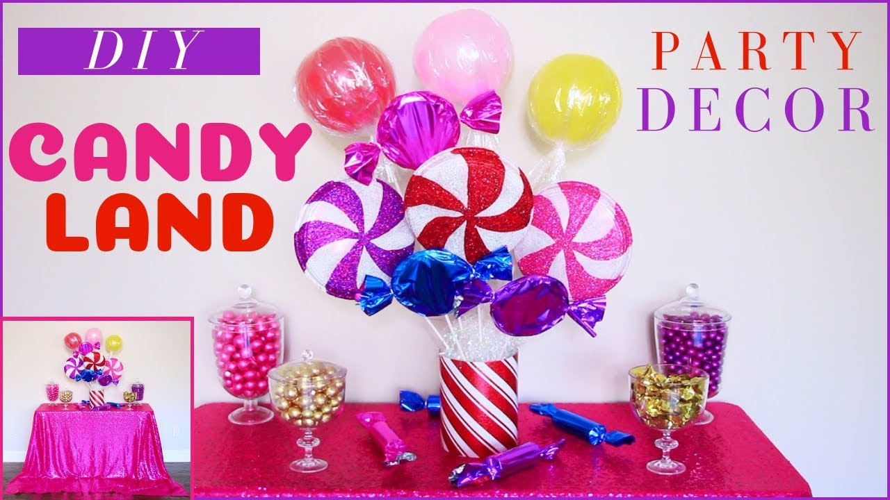 DIY Candyland Party Decorations  DIY Party Decor  DIY Christmas Party