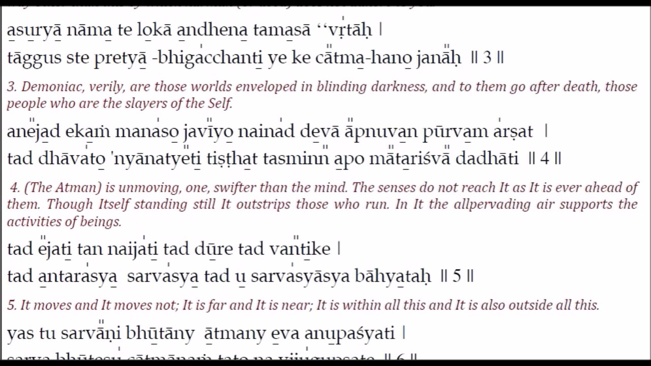 Isavasya upanishad with lyrics for learning youtube isavasya upanishad with lyrics for learning fandeluxe