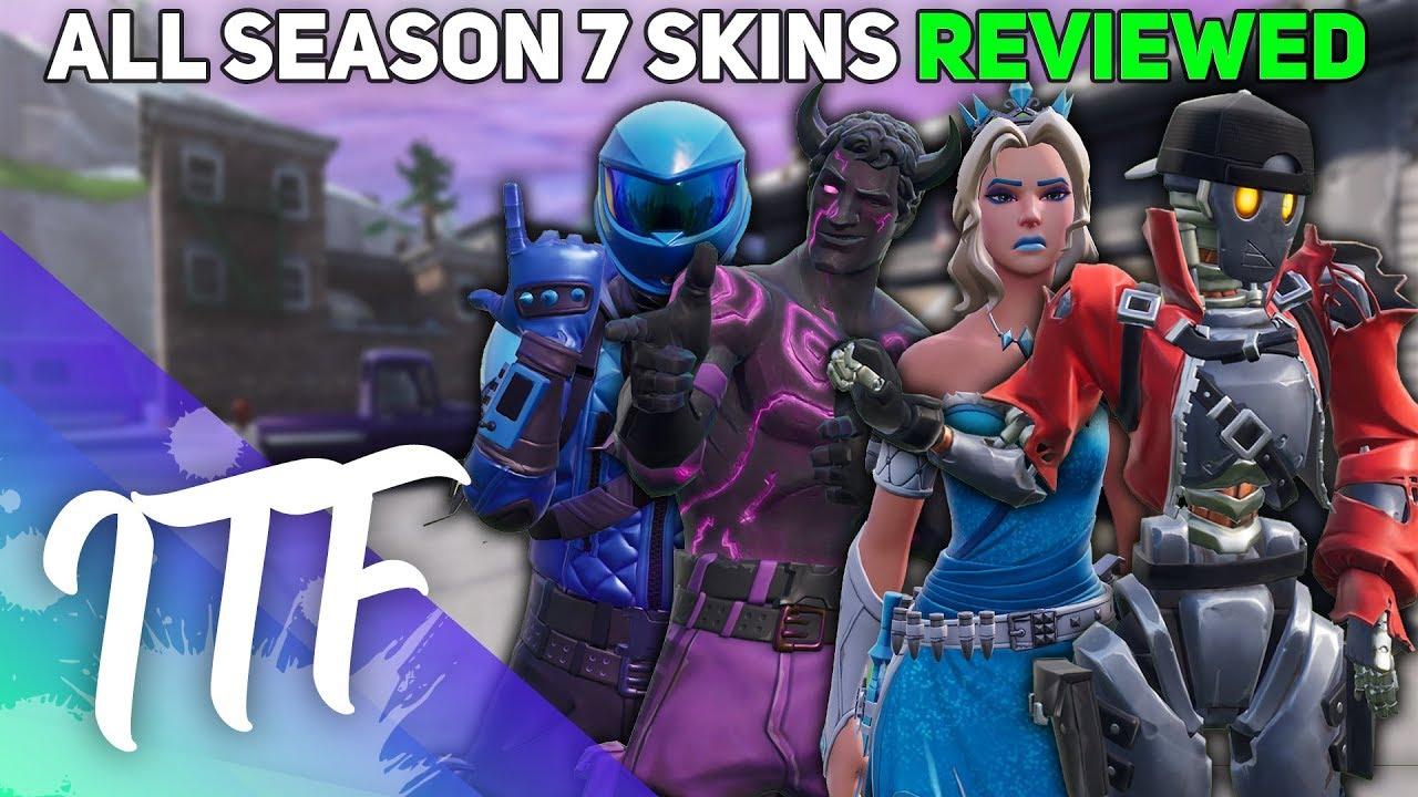 Every Season 7 Fortnite Skin Reviewed! (Fortnite Battle Royale)