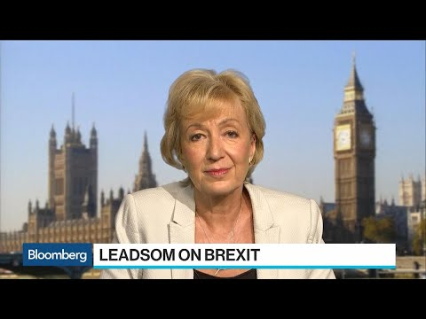 U.K.'s Leadsom Sees Range of Solutions to Resolve Brexit Border