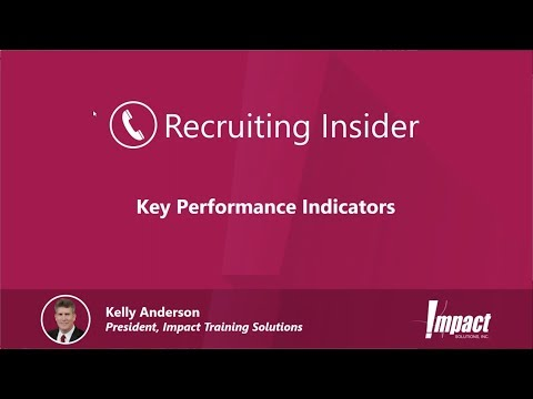 Recruiting Insider #19 - Recruiting Department Key Performance Indicators