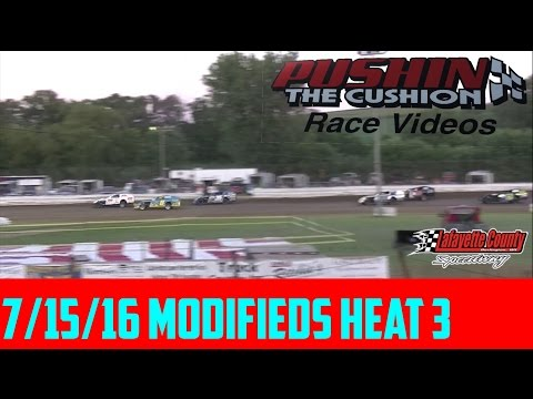Lafayette County Speedway 7/15/16 Modifieds Heat 3
