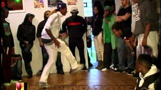 INDIANA VS CHICAGO FOOTWORKING at DA WAR ZONE ( WALA CAM )