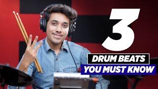 3 Must Know Drum Beats -  Easy Drum Lesson   Drum Tutorial   Yeshu Ke Geet