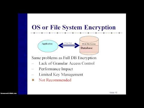 PROTECTING SENSITIVE INFORMATION WITH DATABASE ENCRYPTION
