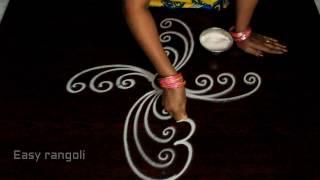 easy free hand rangoli designs || free h...