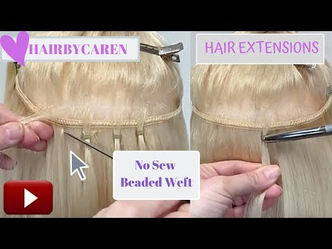 Hair Extensions Bead weft or Quick weft NBR Handtied