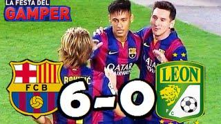 Barcelona vs León 6-0| RESUMEN Y GOLES HD| Amistoso Trofeo