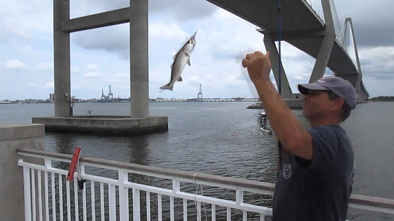 jiggin jerry fishing the mt pleasant pier during the last ForMt Pleasant Fishing Pier