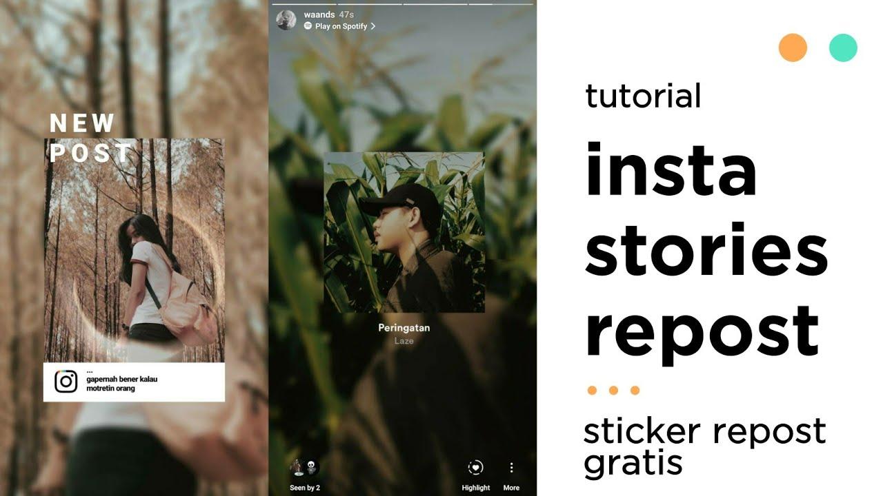 Trik Instagram Membuat Insta Stories Repost Spotify Music Repost Kekinian Seperti Waands Youtube