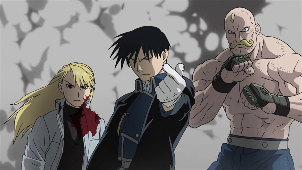 Image result for fullmetal alchemist brotherhood fight scene
