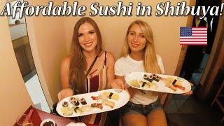 パリピなアメリカ人女子!渋谷の本格寿司を楽しむ!/ America enjoy sushi in Shibuya!
