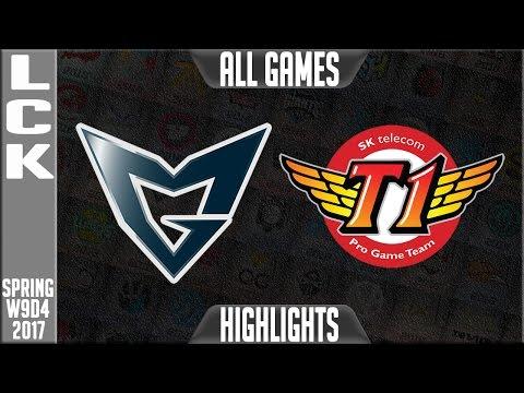 Samsung Galaxy vs SKT Highlights All Games - LCK W9D4 Spring 2017 SSG vs SKT All Games