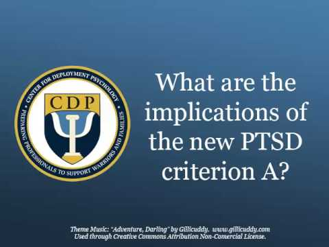 CDP Podcast DSM5 Changes to PTSD