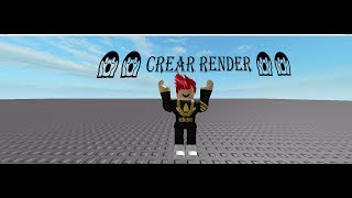 how to make a rendering in roblox studio